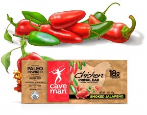 Caveman Foods Primal Bars Package, illustration by Paul Mirocha